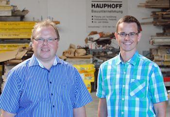 Andreas Lühmann (Regionalagentur OWL) und Michael Hauphoff (Hauphoff GmbH) v.li.n.re.