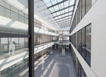 Viel Raum und lichtdurchflutete Räume für rund 400 Mitarbeiter: Das neue Gebäude ist im Sommer 2015 bezugsfertig.  (Foto: CENTRUM INDUSTRIAL IT (CIIT)