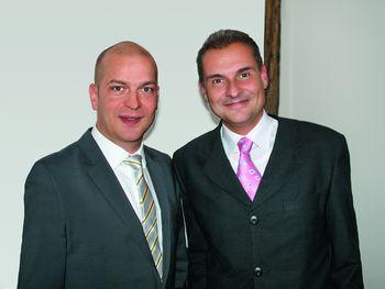 Kay Herbstritt, Niederlassungsleiter Aichach, Daniel Oltrogge, Geschäftsführender Gesellschafter Oltrogge & Co. KG
